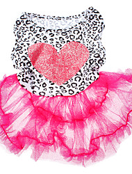 Perros Vestidos Rosado Ropa para Perro Verano / Primavera/Otoño Corazones Moda