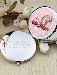 Personalized Dragonfly Chrome Compact Mirror Favor