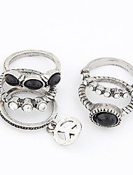 Vintage Alloy Anti-War Pattern Ring Set(5PCS)