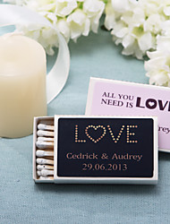 Wedding Décor Personalized Matchboxes - Love (Set of 12)
