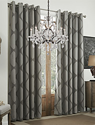 Rococo Two Panels Geometric Multi-color Dining Room Polyester Curtains Drapes