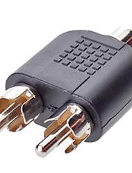 1RCA OM 2RCA F / M Adapter