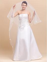 Elegantes 1 capa velos de la boda vals con lápiz Edge