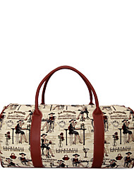 Nryana Cream Red Young Woman  Print Travel Bag