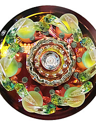 1W contemporaine Led encastré DYC010 en cristal de conception florale pour Porche / Corridor / Aisle
