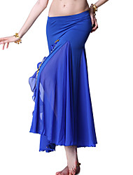 Dancewear Crystal Cotton and Chiffon Belly Dance Skirt For Ladies More Colors
