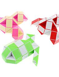 48-sections serpent bricolage magique en forme de cube (couleur aléatoire)