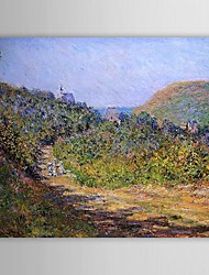 Famous Oil Painting At Les Petit-Dalles by Claude Monet