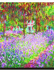 The Stretched Canvasist's Garden at Giverny, c.1900 by Claude Monet Famous Stretched Canvas Print