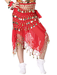Dancewear Chiffon with 98 Coins Belly Dance Belt For Children More Colors