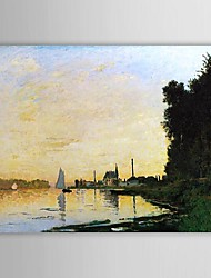 Famous Oil Painting Argenteuil, Late Afternoon by Claude Monet
