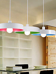 Minimalista 60W luz pendiente OVNI con sombra blanca (5 seleccionable en color)