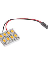 T10/BA9S/Festoon 1.5W 8x5730SMD blanc chaud Ampoule LED pour la lampe de lecture de voiture (12V)