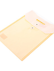 A4 Paper File Bag With Button (Random Color)