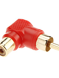 90 Degree Male to Female RCA Adapter