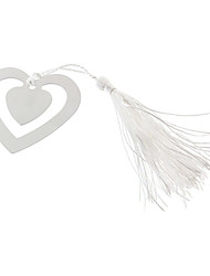 Heart Shape Tassels Alloy Bookmark