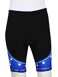 Kooplus 2013 USA Pattern Elastic Fabric Breathable Men Cycling Shorts with 6D Pad