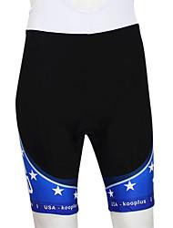 Kooplus 2013 USA patrón elástico tejido transpirable Hombres Ciclismo Shorts con Pad 6D