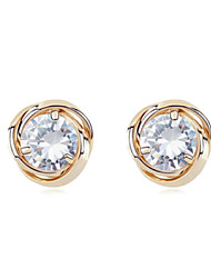 Gold Plated Alloy Zircon Earrings(Assorted Colors)