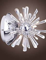 Crystal/Mini Style/Bulb Included Wall Sconces , Modern/Contemporary G4 Metal