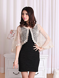 Capelets Sleeveless Tulle Black / White / Almond Party/Evening / Casual Clasp