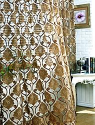 AnTi™ (Two Panels) European Floral Energy Saving Sheer Curtain