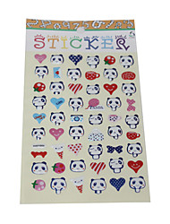 Cartoon Panda Head Bubble Sticker