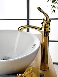 Современный Чаша Одной ручкой одно отверстие in Титан с влогоотталкивающим покрытием Ванная раковина кран