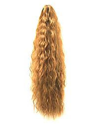 20 Zoll-synthetische Brown Farbe Beliebte Wave-Pferdeschwanz-Haar-Extensions