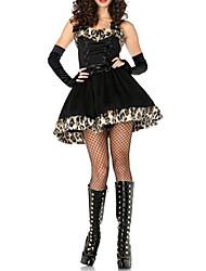 Costumes de Cosplay / Costume de Soirée Animal Fête / Célébration Déguisement Halloween Noir Mosaïque Robe / Casque / GantsHalloween /