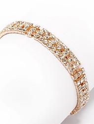 Elegant 18K Gold Plated with Crystal Bracelet