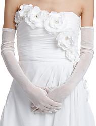 Opera Length Fingertips Glove Nylon Bridal Gloves/Party/ Evening Gloves