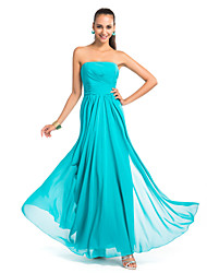 Formal Evening / Military Ball / Wedding Party Dress - Jade Plus Sizes / Petite Sheath/Column Strapless Floor-length Chiffon