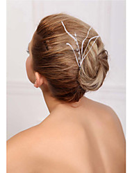 Women's Feather/Crystal Headpiece - Wedding/Special Occasion Hair Pin