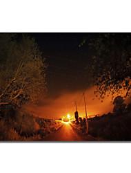arte tela stampata modo paesaggio alle stelle da Sébastien lory con telaio allungato