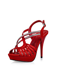 Specific Satin Stiletto Heel Sandals With Rhinestone Party\Evening Shoes(More Colors)