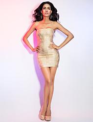 Mantel / Spalte strapless kurz / Mini-Kleid des Verbandes