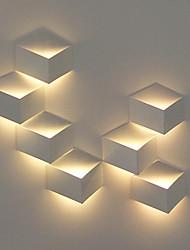 1W moderna LED Light Wall artistico Cubic Metal ombra