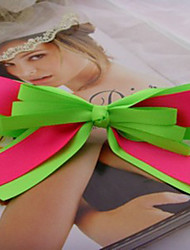 Handmade Fluorescent Color Satin Ribbon Bow Sweet Lolita Barrette