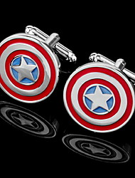 Gift Groomsman Star With Circles Cufflinks(Box Color Random)