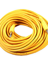 Derulo - Yellow Nylon Guitar Cable with Metal Plug in 20 Meter
