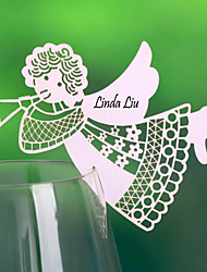 "Place Cards and Holders ""Angel"" Place Card For Wine Glass Card (Set of 12)"