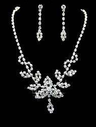 Alliage incroyable avec Ensemble de bijoux strass femmes, y compris d'oreilles, collier