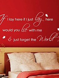 If I Lay Here Wall Sticker