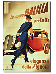 Printed Canvas Art Vintage La Nuvor Balilla by Vintage Apple Collection with Stretched Frame
