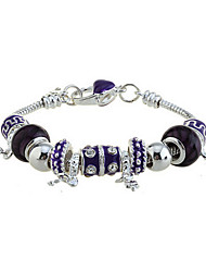 Fashion Silver Plated With Multi Beads charm Bracelet