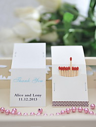 Wedding Décor Personalized Matchbooks - Thank You (Set of 50)