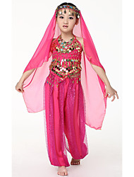 Dancewear Chiffon with Coins Belly Dance Veils For Children More Colors