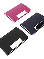 Colorful PU Leather Porte-cartes de visite (couleur aléatoire)
