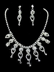 Charming Alloy With Rhinestone Women's Jewelry Set Including Earrings,Necklace